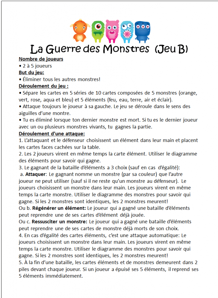 Multi-Monstres 1.1 Rules B